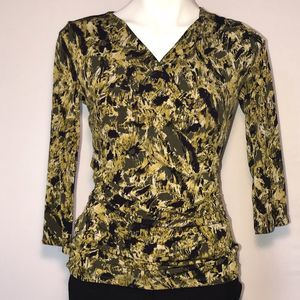 Vince Camuto yellow and black long sleeve top